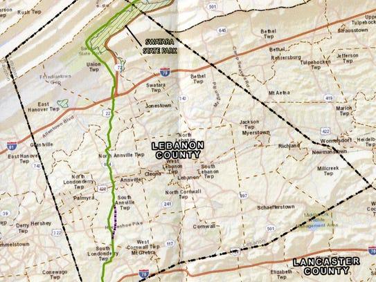 Original proposed route of Atlantic Sunrise Project
