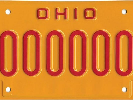 Ohio DUI plate