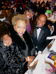 Debra Bradley, Jackie Scott, Greg Bradley at Sobek Grand Ball.