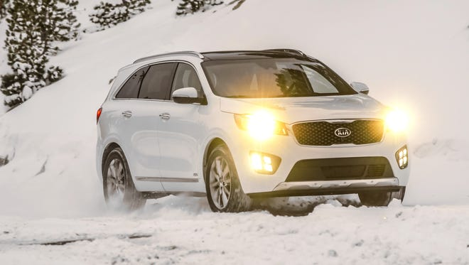 Enlarged 2016 Kia Sorento went on sale January 2015. High end versions can top $45,000, but drive well and are long on comfort, convenience.