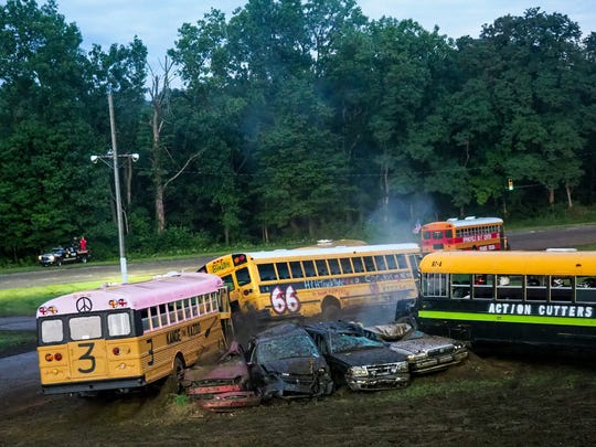 Galesburg Speedway annually hosts school bus figure eight races.