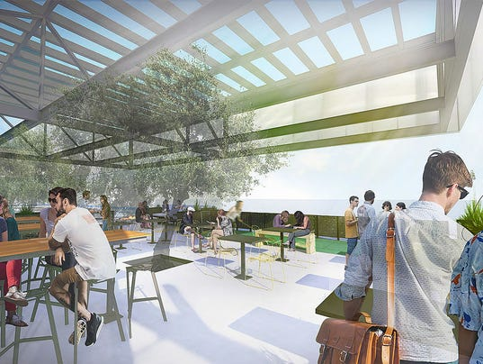 Artist's rendering of Fellow Osteria patio