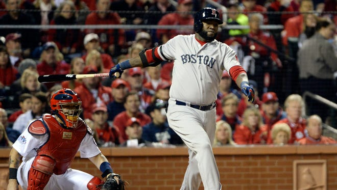 David Ortiz has four extra base hits in the World Series.