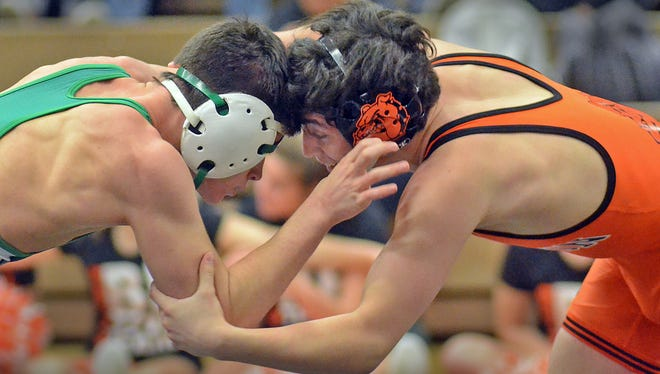 Seth Soto went 2-0 for the Brighton wrestling team as it beat both Waterford Kettering and Livonia Franklin.