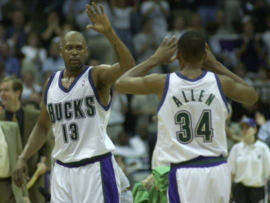 Former Bucks stars Glenn Robinson and Ray Allen provided