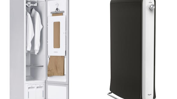 The LG Styler and Whirlpool Swash allow you to refresh your finer clothes between trips to the dry cleaner.