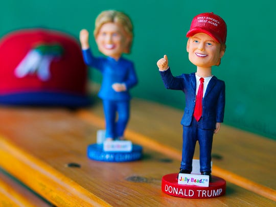 The Fort Myers Miracle will host a Bobblehead election Thursday, Aug. 25, 2016, between Donald Trump and Hillary Clinton at Hammond Stadium in south Fort Myers. 1,000 bobbleheads will be available; 500 for each candidate. The first candidate to run out of bobbleheads will be the winner. Gates open at 6 p.m and first pitch is at 7:05 p.m.