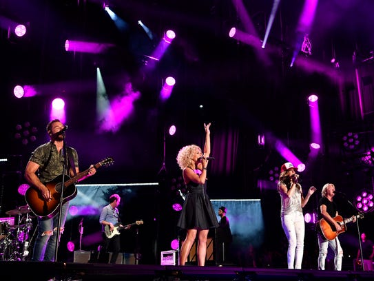 Little Big Town performs at Nissan Stadium on the final