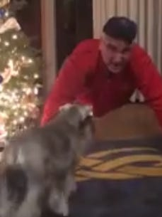 Gov. Eric Holcomb posted a video of himself doing push-ups after losing a bet with Kentucky Gov. Matt Bevin over the Army-Navy football game.