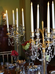 Battery-operated candles set the mood at Boscobel House
