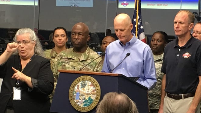 Gov. Scott told staff at the Florida Emergency Operations Center on Thursday.