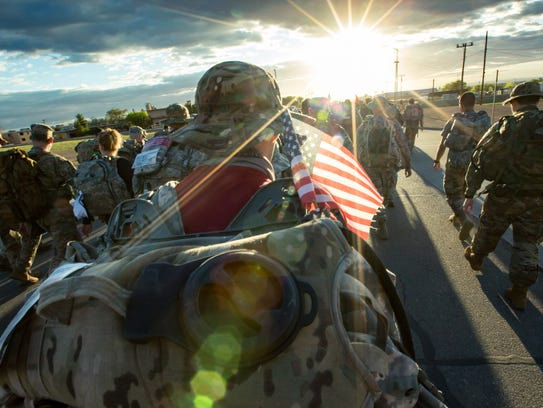 The sun rises on the nearly 8,500 participants who