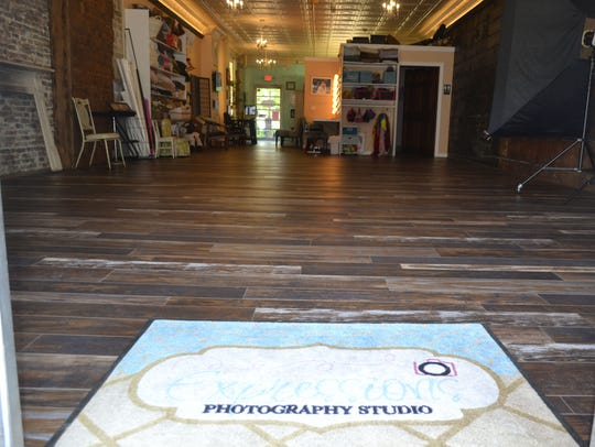 Looking inside from the front door at Expressions Photography