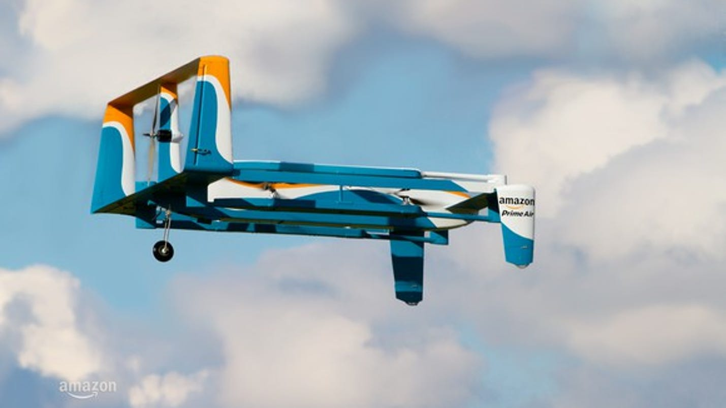 Amazon has patented a drone that reacts to people shouting and waving at it