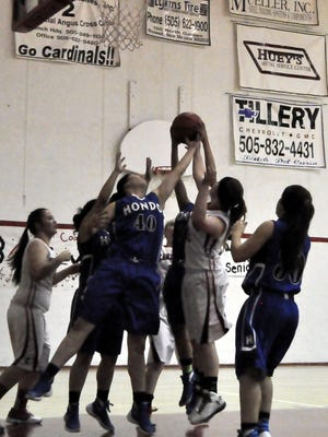 Hondo took the 63-15 win over Corona in the two team's last regular season game of the year.
