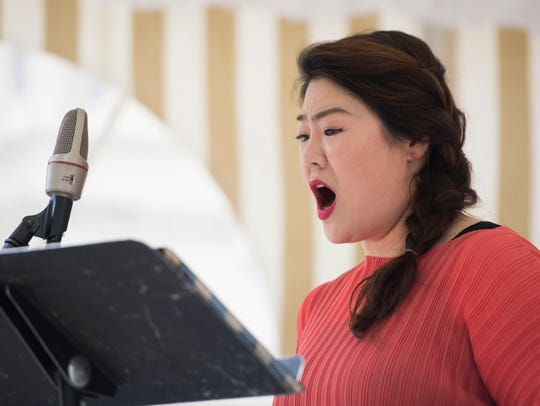 Sabina Kim of the Knoxville Opera performs at the 17th