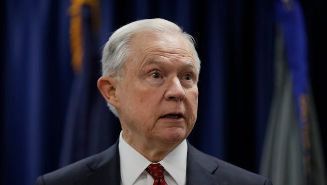 Attorney General Jeff Sessions speaks in Philadelphia Friday. President Donald Trump took new swipes at Sessions this week.