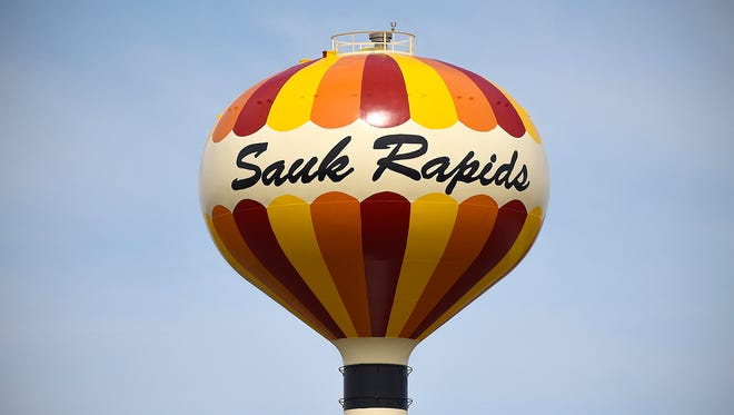 Sauk Rapids water tower.
