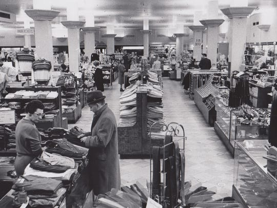 Wasson's men's department in 1963.