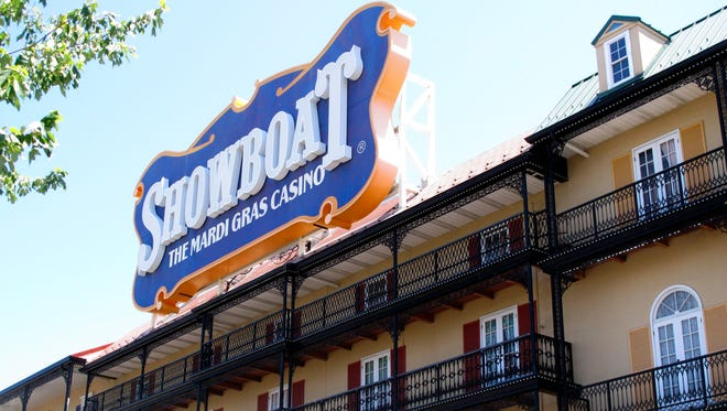 This photo taken on June 27, 2014, shows the exterior of the Showboat Casino Hotel in Atlantic City N.J.