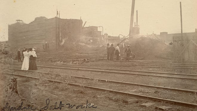 The Gardner Salt and Ice Works was where Cargill is now. It burned down in 1903.