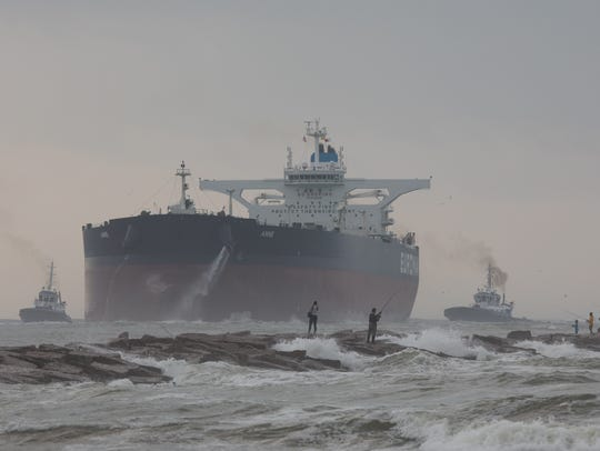 The largest tanker to dock in a Gulf of Mexico port
