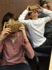 Hillel Day students Ethan Sternberg and Yoni Benezra take a virtual tour, courtesy of Google.