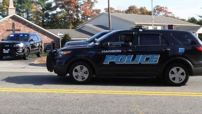 A November 2017 file photo shows a Hanson police SUV.