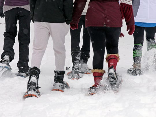 Group of snowshoers