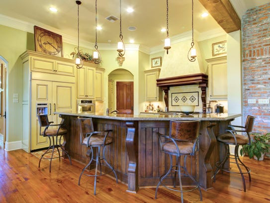 The kitchen is elegant and inviting.