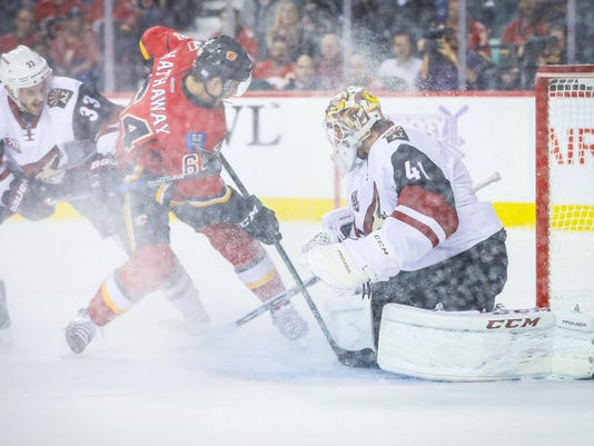 NHL: Arizona Coyotes at Calgary Flames