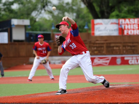 Zane Trace's Jeremy Brooks pitches Thursday during a Division III regional semifinal 4-3 loss against Wheelersburg at Paints Stadium.