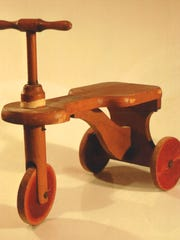 "A ""Kiddie Kar"" by the H.C. White Co. of North Bennington is part of the exhibit ""Wooden Wonders"" at the Henry Sheldon Museum in Middlebury."