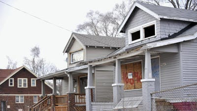Lafayette has struggled with what to do about blighted or adjudicated properties. Shown in this 2014 photo is a blighted property in Detroit.