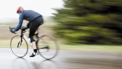 This isn't me. I'm at the point where if it's raining, I don't go out for a ride.