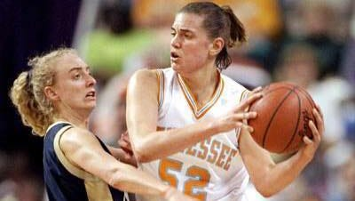 Abby Conklin (right) says playing for Pat Summitt was the toughest four years of her life.