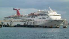 Carnival Cruise Line's 2,056-passenger, 70,367-gross-ton