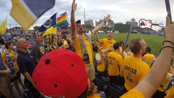 Nashville SC supporters' group The Roadies sing Queen's