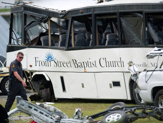 AP Bus Overturned Tennessee