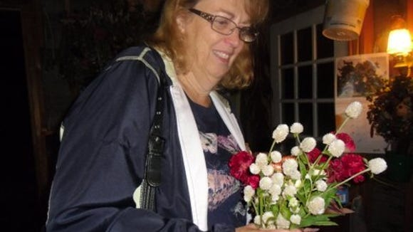 Country Gardeners President Monica Quagliata and her favorite bouquet (provided photo)