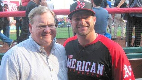 Randy and Stephen Vogt at the 2015 All Star Game.
