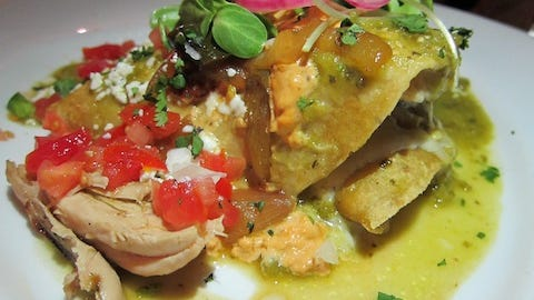 Smoked Chicken Enchiladas is one of Sydne George's favorite dishes in Sedona, Ariz.
