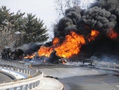 Ramp remains closed after truck fire in Pennsauken