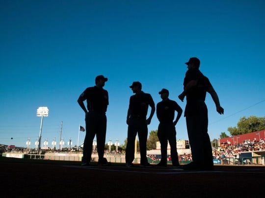 Reno Aces official team photographer David Calvert is showcasing some of his work from the past eight seasons at the Sierra Arts Gallery through Nov. 23.