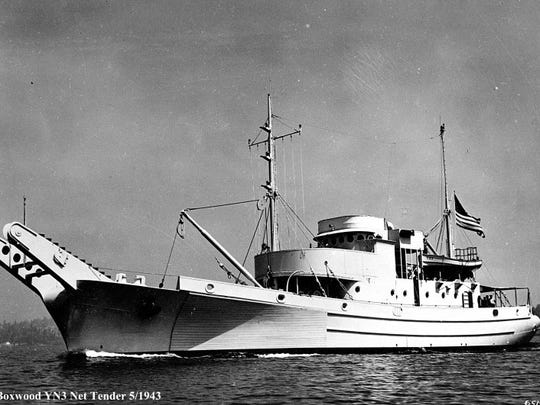The Navy's net tender USS Boxwood operated out of Naval Magazine Indian Island during a part of World War II. The tender laid the giant anti-submarine nets manufactured at Indian Island in Puget Sound to protect the waterways from enemy vessels.
