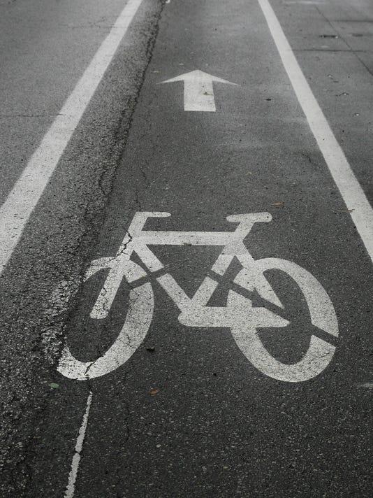 IndyStar stock road stock bike lane stock traffic stock biking stock bikes