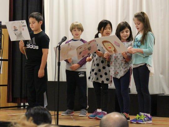 Left to riight: Woodland second graders Joseph Genovese,