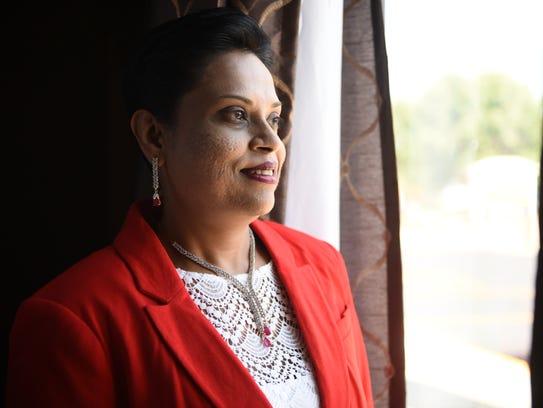 Vandhana Baireddy poses for a portrait on Thursday,