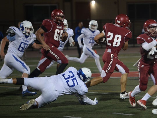 Tim Luna (28) returns for Santa Paula High after rushing for 1,146 yards and nine TDs as a junior.