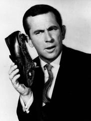 "Don Adams as Maxwell Smart in ""Get Smart."""